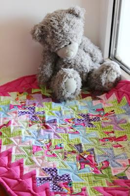 кукольное одеялко в технике флик-флак