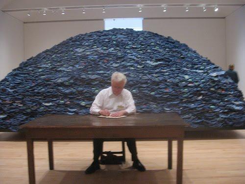 Root of the Problem indigo blue by artist Ann Hamilton