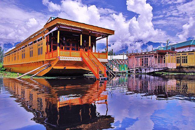 The famous Shikhara house boats of Dal Lake - Srinagar