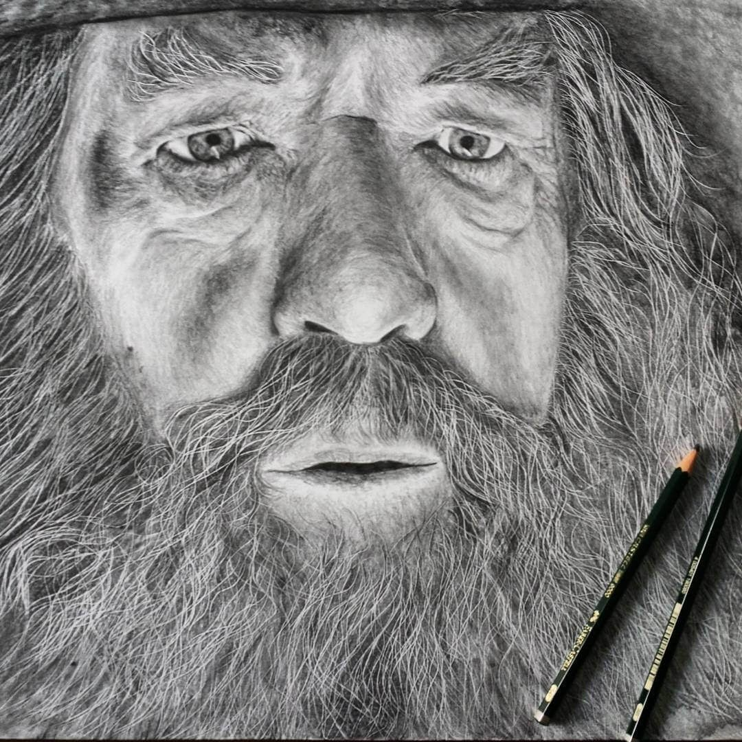05-Gandalf-The-Grey-Ian-McKellen-Simone-Mulas-Realistic-Portraits-in-Different-Styles-www-designstack-co
