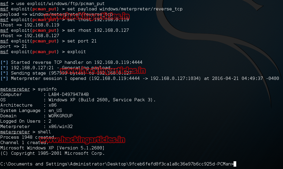 Hacking Articles Raj Chandel's Blog: Hack Remote Windows