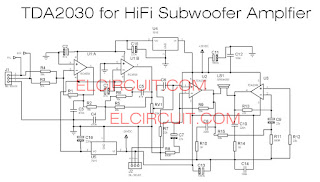 TDA2030 Subwoofer amplifier using 4558 filter subwoofer