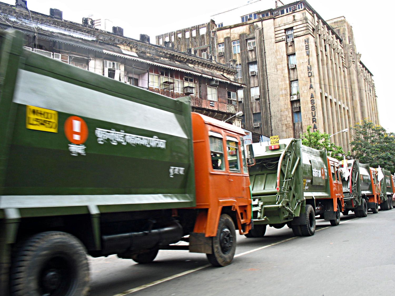 Stock Pictures: Garbage trucks or dumpers in India