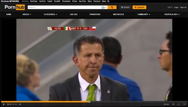 Goleada de México ante Chile es subida a página para adultos