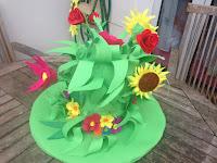 handmade flowers hat