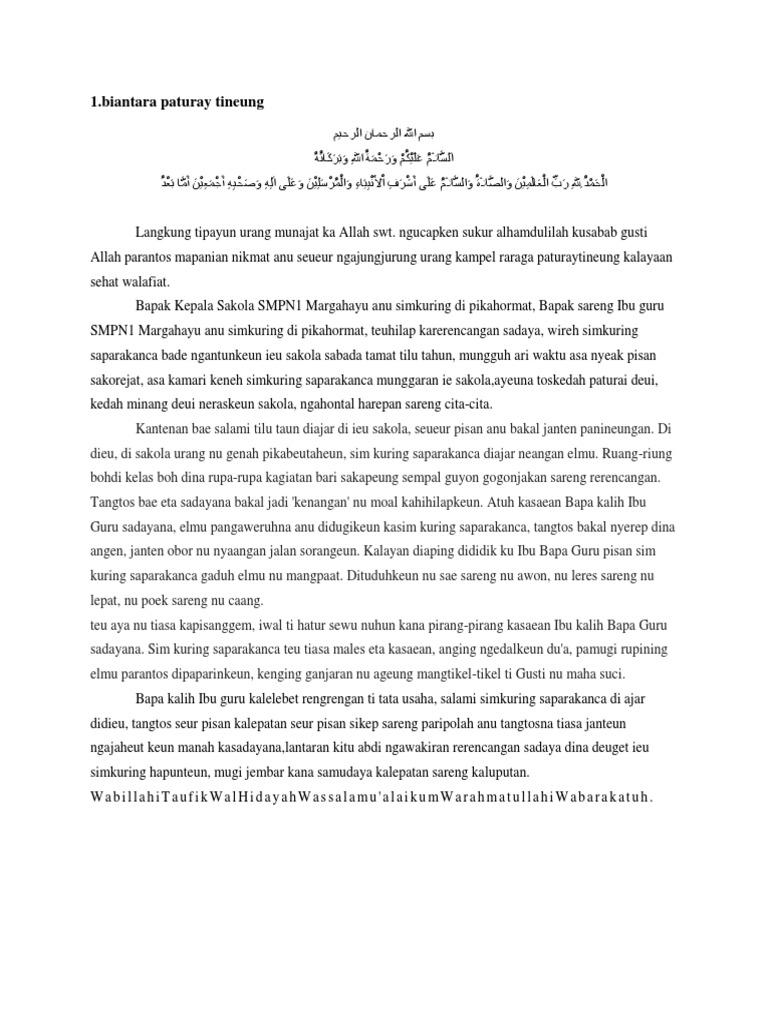 Biantara Bahasa Sunda Wood Scribd Indo