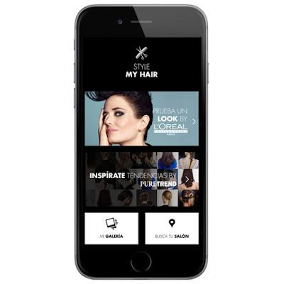 app móvil de peinados