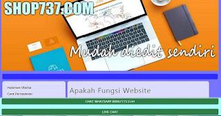 contoh tampilan website shop737