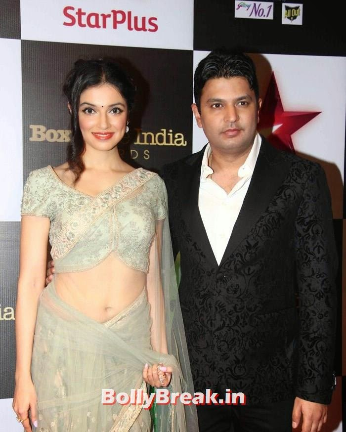Star Box Office India Awards, Divya Khosla Kumar Hot Images in Saree from Star Box Office India Awards