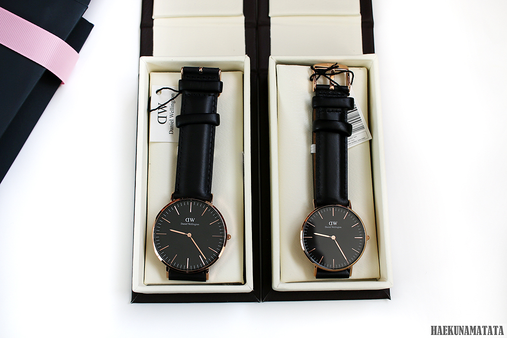 Daniel Wellington Classic Black Rose Gold 36mm 40mm, Valentine's Day Promotion