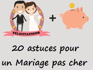 20 astuces pour un mariage pas cher