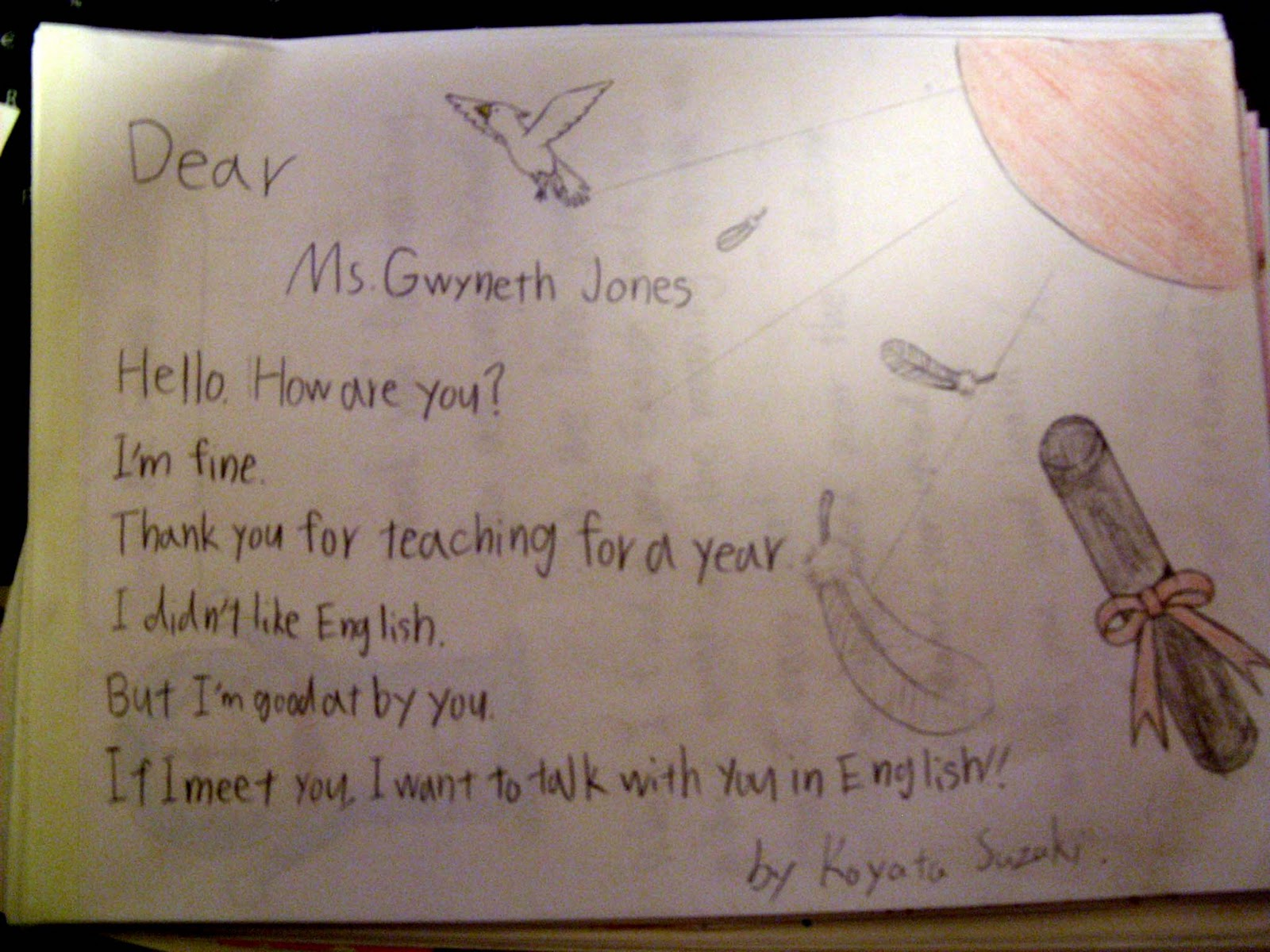 Gwynnies Adventures in Japan Goodbye third grade