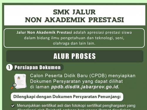 Prosedur dan Jadwal PPDB Jawa Barat 2017 Jenjang SMK Jalur Non Akademik Prestasi