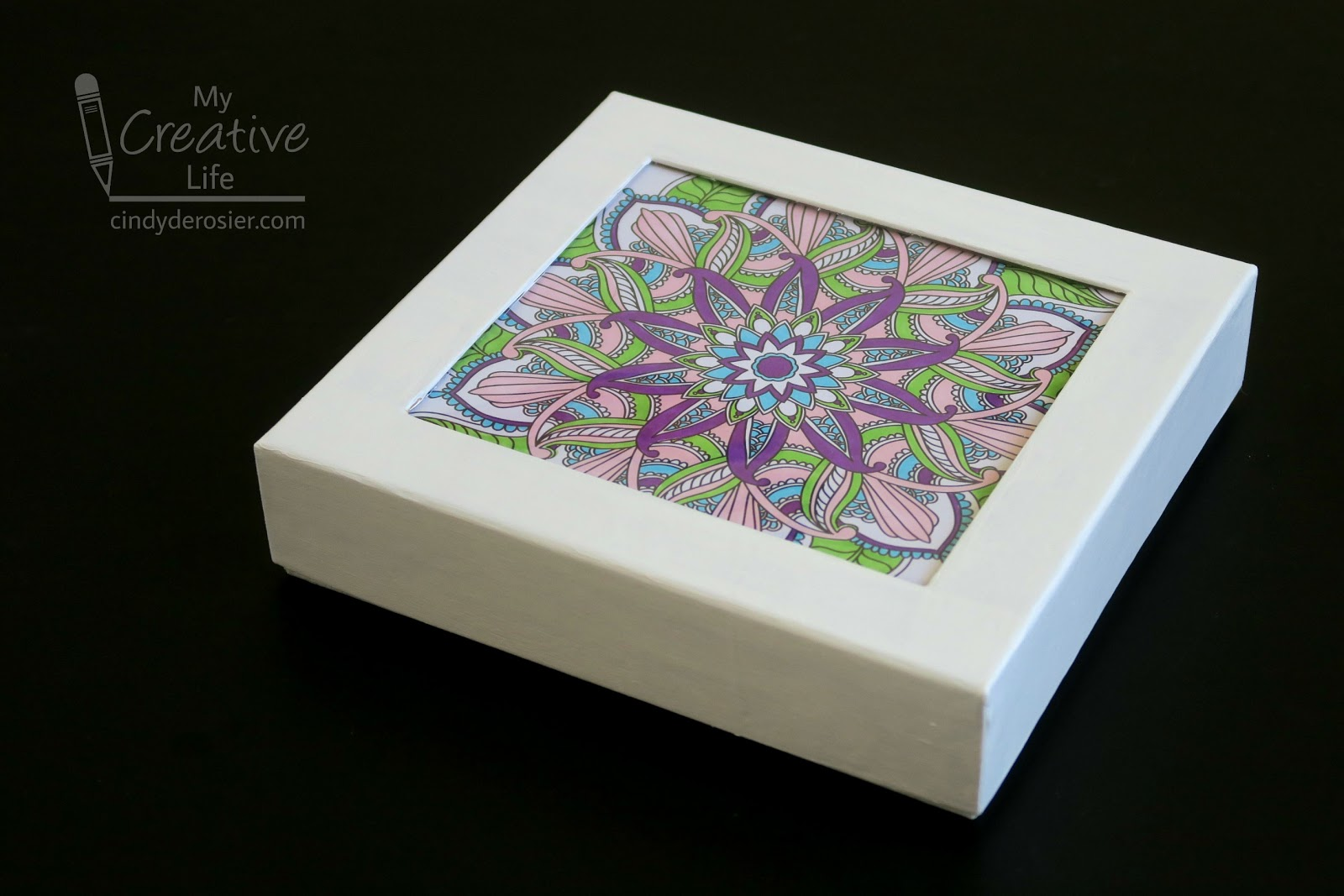 Cindy DeRosier My Creative Life Coloring Page Gift Box