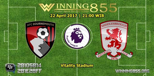 Prediksi Skor Bournemouth vs Middlesbrough 22 April 2017