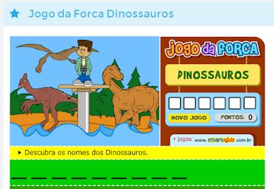 Jogo da Forca sobre Dinossauros