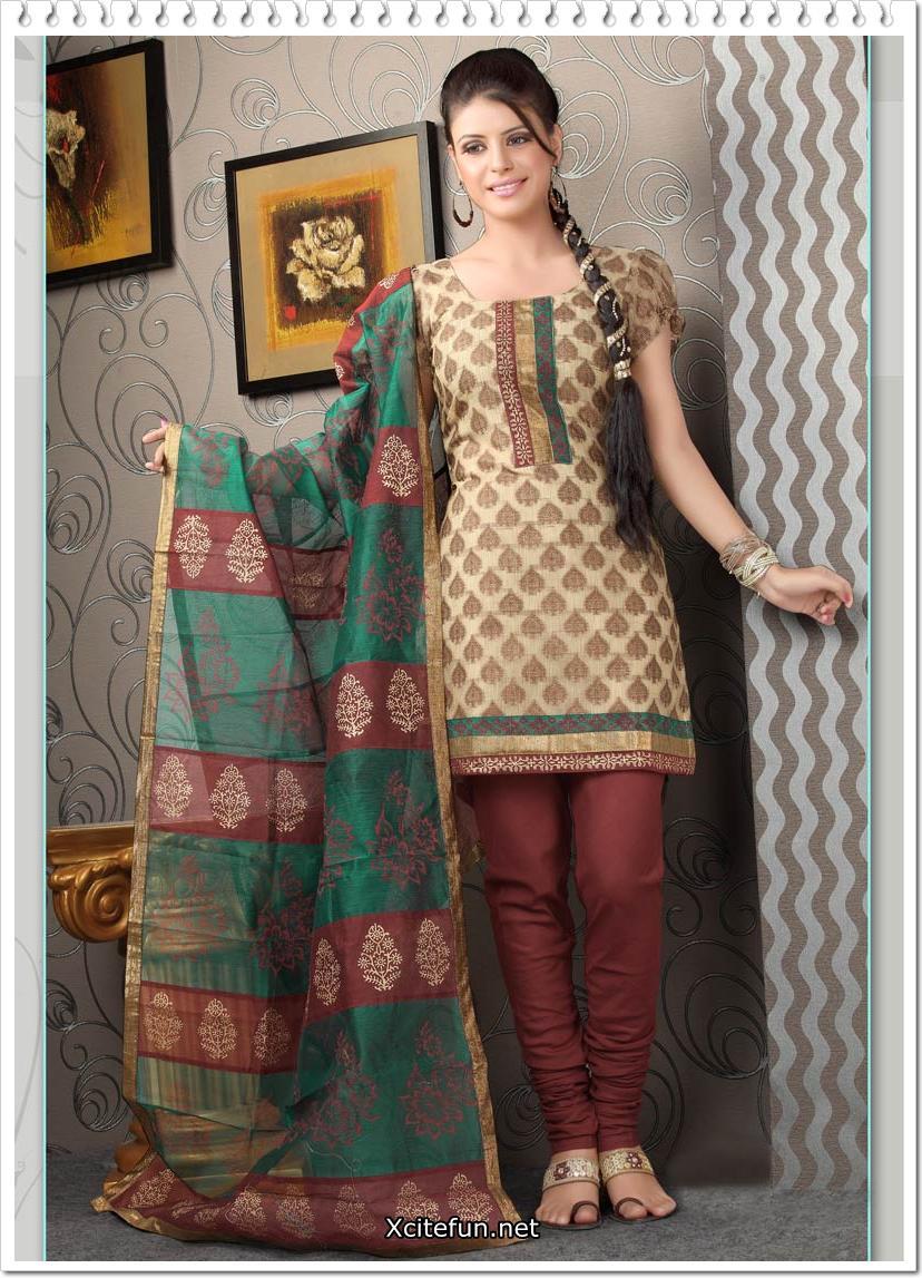 Fashion Girl: Churidar Salwar Kameez Beautiful Designs