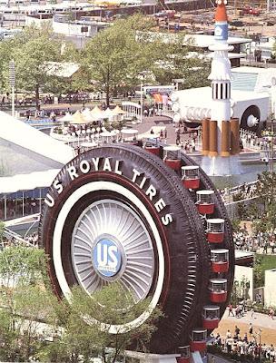 Аттракцион Гигантская шина EXPO-1964 в Нью-Йорке
