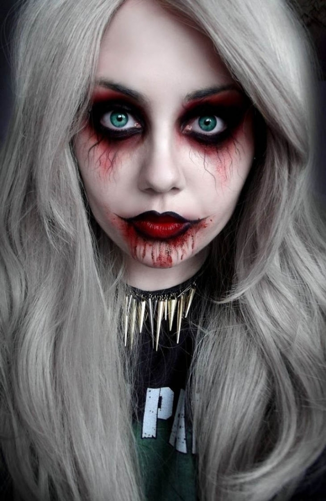 Scary Halloween Makeup Ideas 2016 For Women Clown Guys - Makeup Halloween 2016