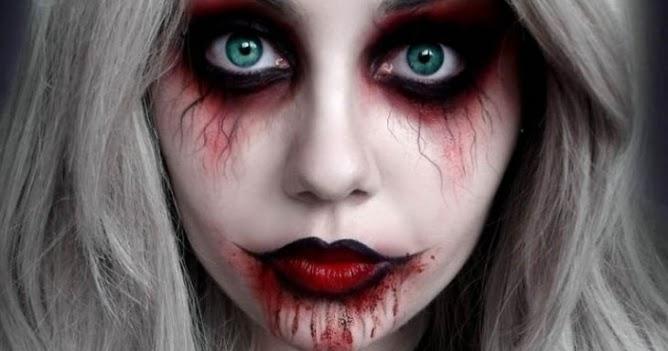 Scary Halloween Makeup Ideas 2016 For Women Clown Guys - Scary Halloween Makeup For Guys