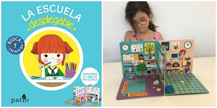 mejores cuentos libros infantiles de 0 a 3 años La escuela desplegable patio