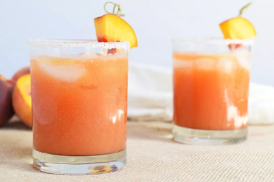 Fresh Peach Margaritas #fresh #peach #margaritas