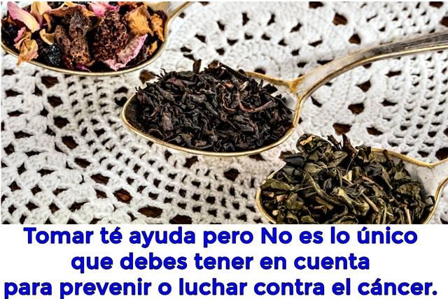 ¿Tomar té ayuda a curar el cáncer o a prevenirlo?