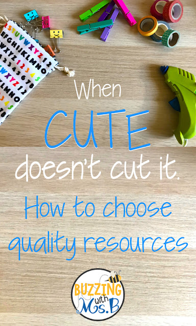 When you're searching for ideas and activities for your next unit, it's important to think about how you want to spend your time. Do you want your students creating a craftivity because it's cute & fun, or working with content in meaningful ways? You might have time for both, but if you don't, evaluate your resources to figure out which one will suit your needs. Read to learn the four things you need to think about to choose the best products for your lesson!
