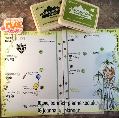 The Decorated Planner - Snowdrops - Joanna`s Planner