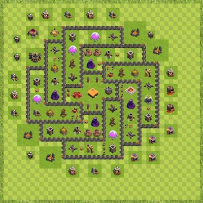 War Base Town Hall Level 9 By Cubluk Cubluk (Tiko TH 9 Layout)