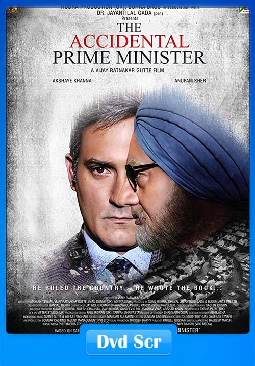 The Accidental Prime Minister 2019 Hindi DVDScr x264 | 480p 300MB | 100MB HEVC Poster