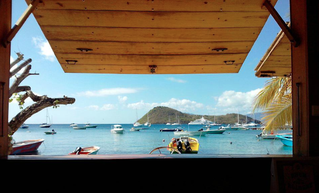 Restaurant Guadeloupe Gourbeyre del Médio, vue sur la mer