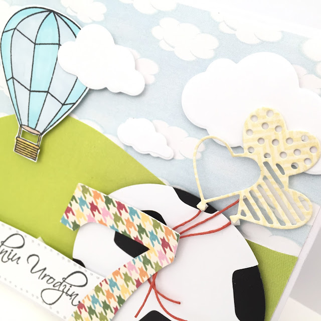 Scrapbooking card for a boy