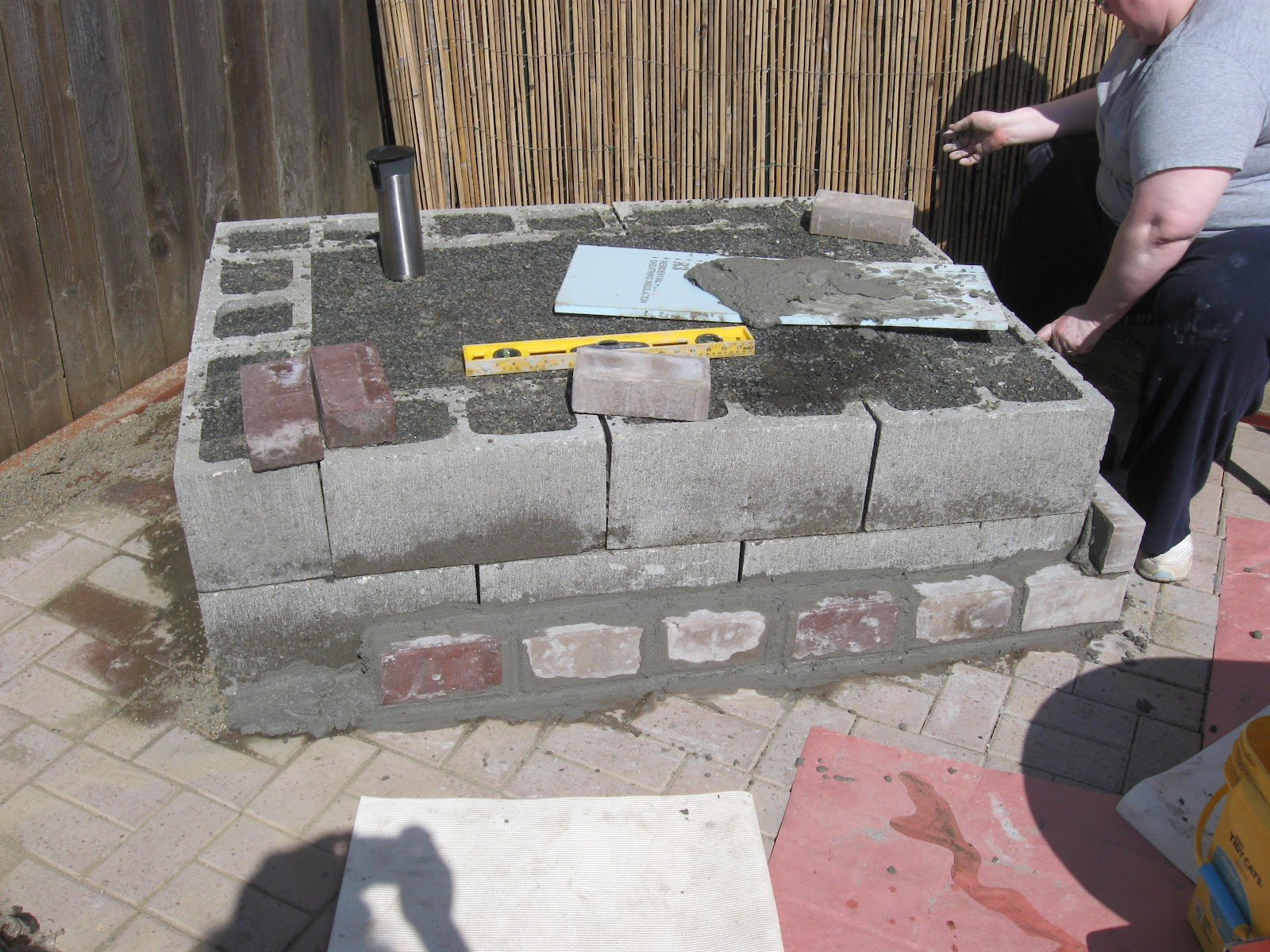 Our Old House: Patio Fireplace hearth... on Outdoor Fireplace With Cinder Blocks id=16913