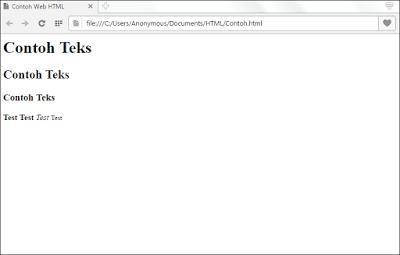 Mengenal Kode Dasar Pada HTML