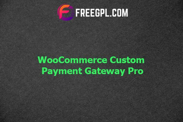 WooCommerce Custom Payment Gateway Pro Nulled Download Free