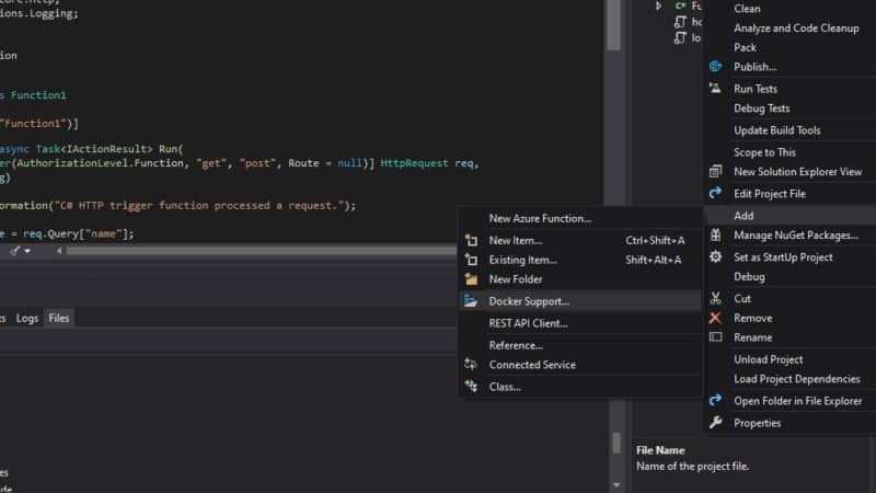 Container Tools for Visual Studio 2019 will make you productive in creating serverless solutions