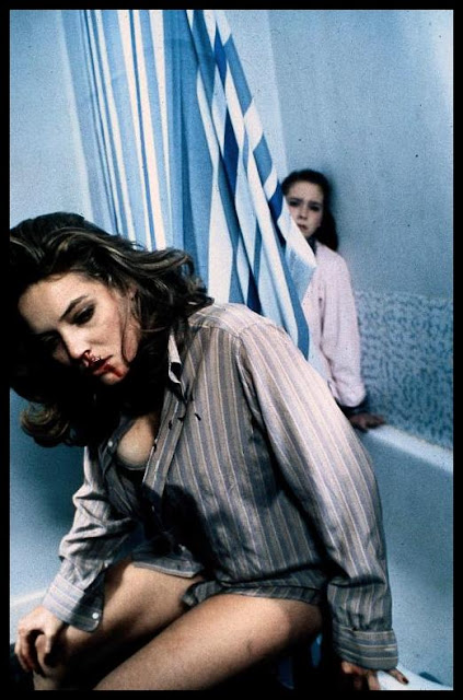 Shot of Lolita Lorre and Rachael Kelly from Michael Winner's SCREAM FOR HELP (1984)