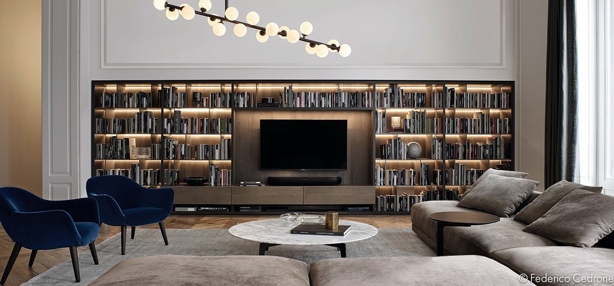 house with a stunning shelf which emphasis interior design - Emphasis Interior Design