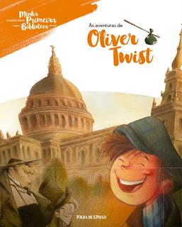 As aventuras de Oliver Twist. Charles Dickens. Folha de S. Paulo. Coleção Folha Minha Primeira Biblioteca. Capa de Livro. Book Cover.
