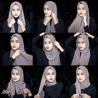 cara menggunakan hijab pashmina dengan mudah