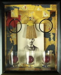 Greg Hanson, box assemblage after Joseph Cornell