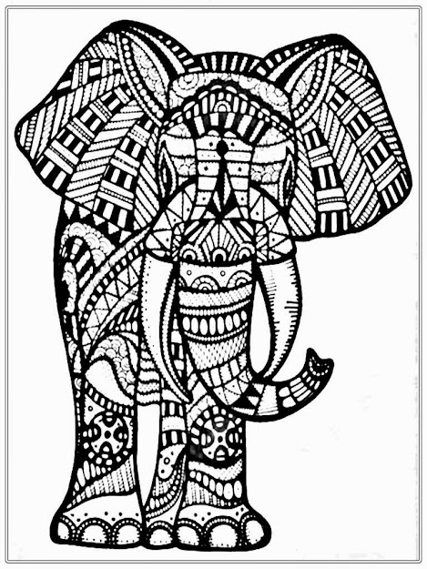 Big Elephant Coloring Pages For Adult Realisticcoloringpages