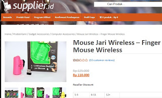 jual finger mouse wireless termurah online