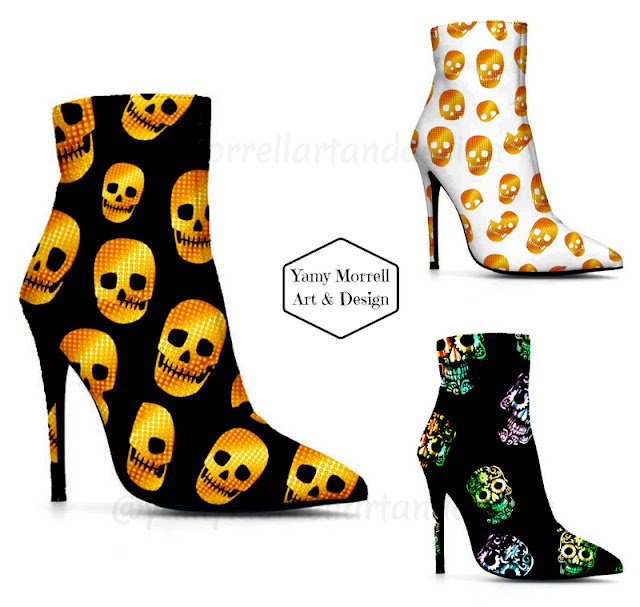skull-pattern-booties-by-yamy-morrell