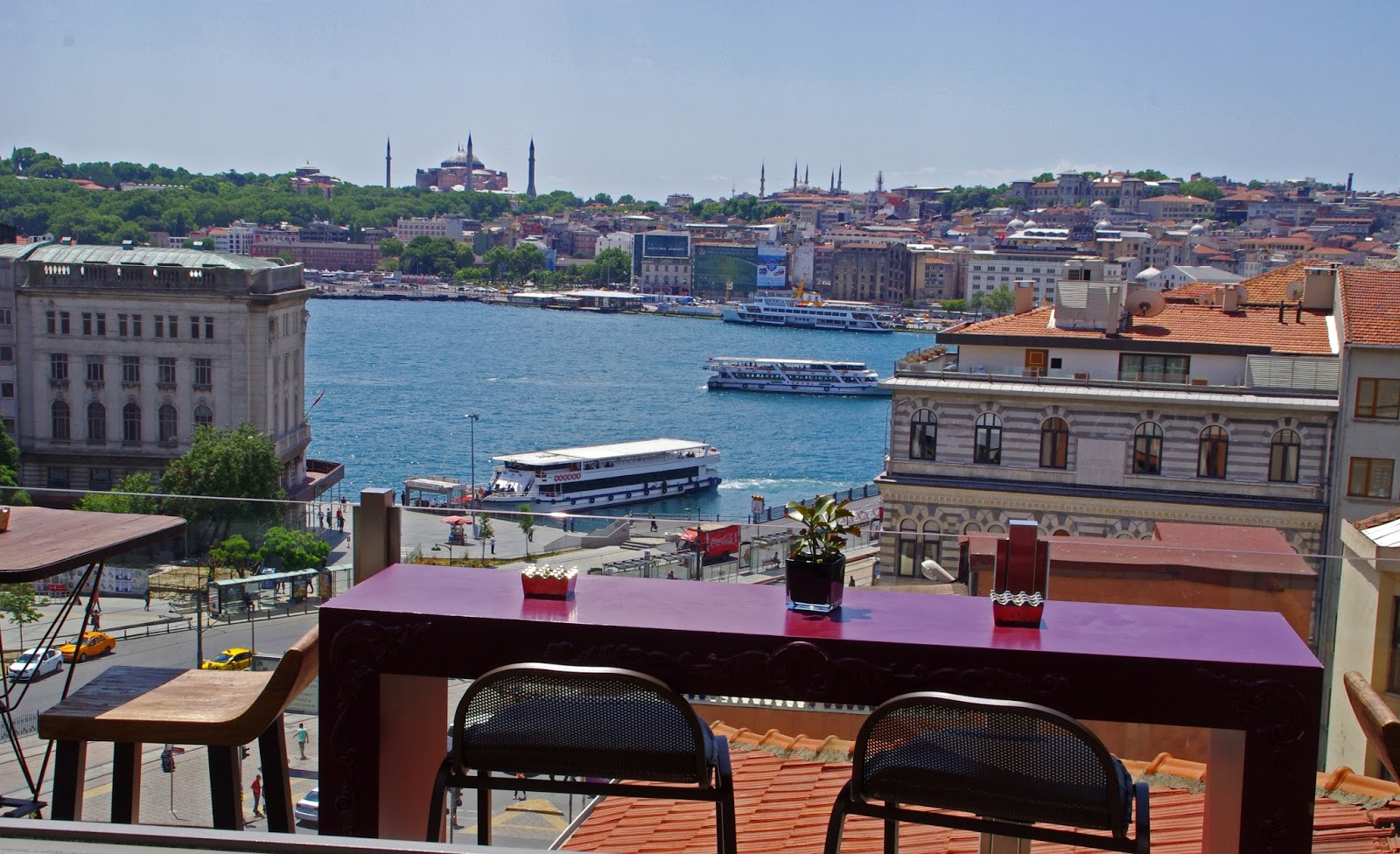 View from Vault Karaköy Rooftop Terrace