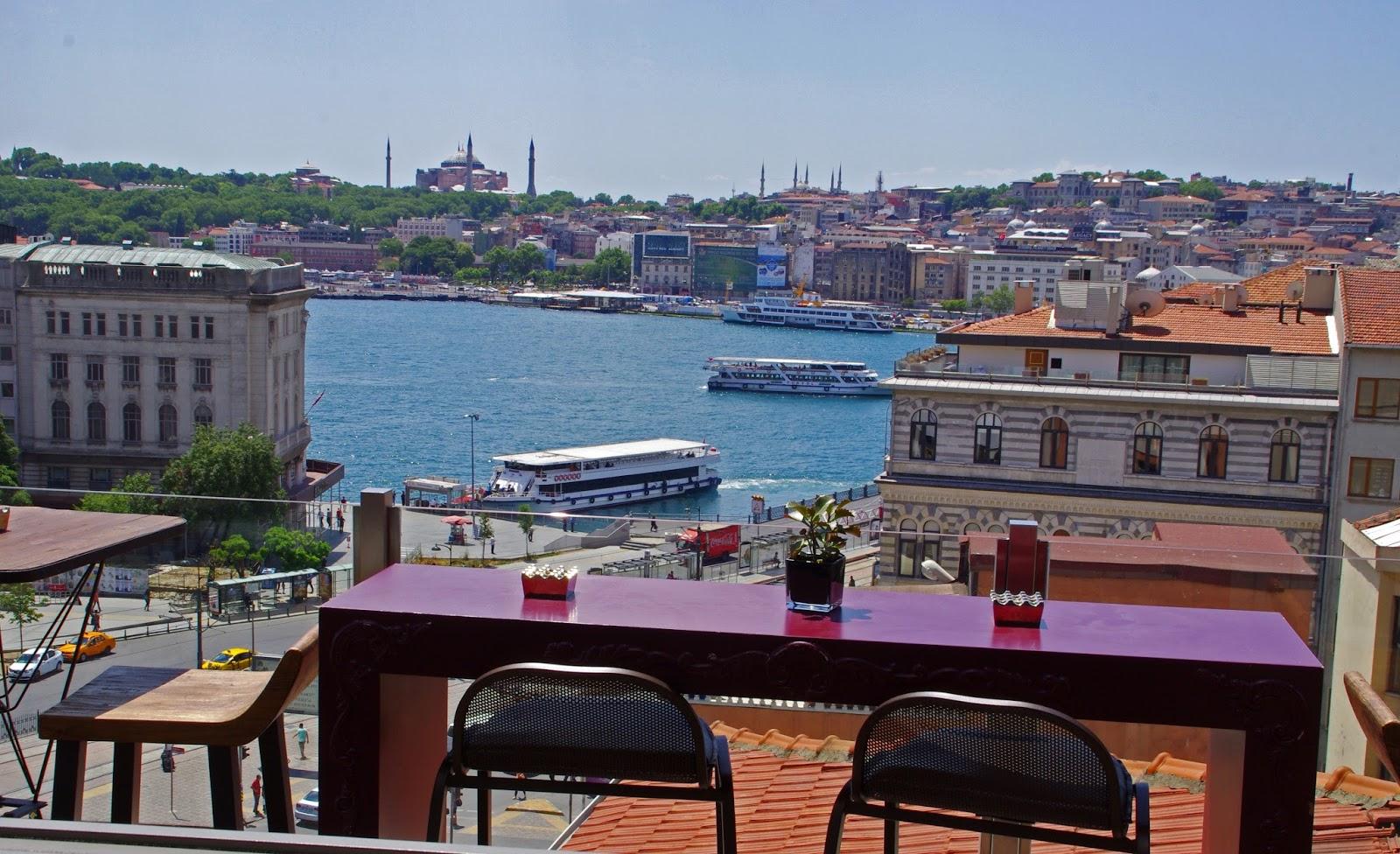 View from Vault Karaköy Rooftop Terrace