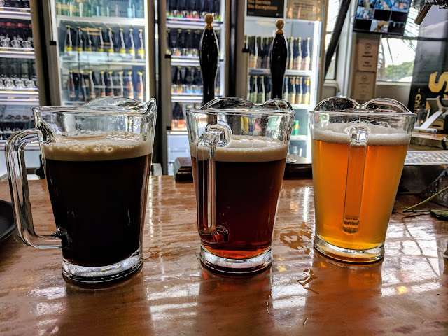 Nelson Craft Beer: Three pitchers of beer from McCashin's Brewery