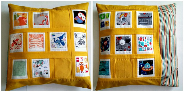 Puppilalla, Polaroid Patchwork Pillowcase, Cushion