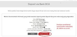 Deposit Instaforex Tanpa Melalui IB dng Bank Lokal
